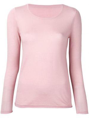 Трикотажный розовый с рукавами топ Sottomettimi