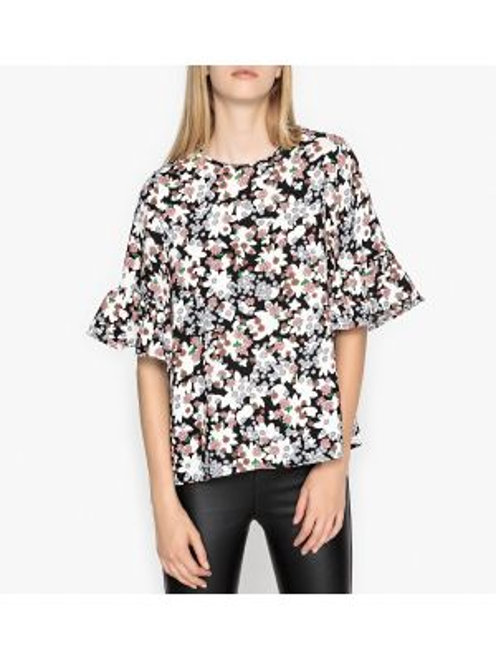 Блузка с цветочным принтом прямая Essentiel Antwerp