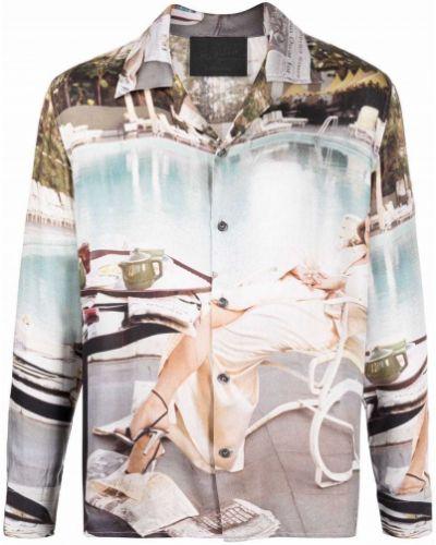 Koszula z długimi rękawami z wiskozy z printem Limitato