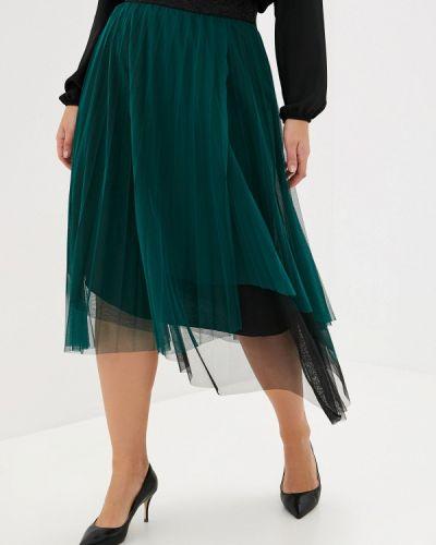 Плиссированная юбка итальянский зеленый Keyra