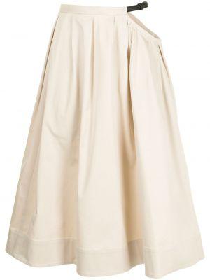 Spódnica midi z wysokim stanem bawełniana z klamrą Tibi