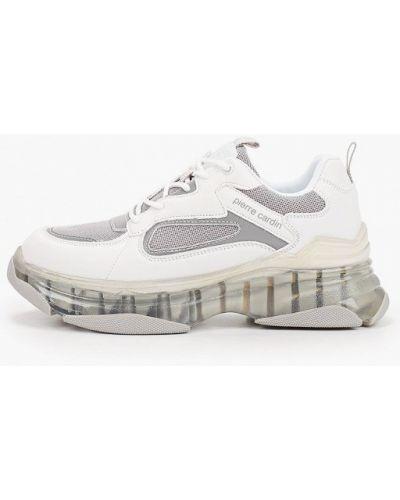 Кожаные белые кроссовки Pierre Cardin