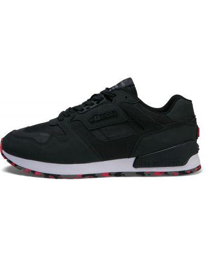 Текстильные черные кроссовки на шнуровке Ellesse