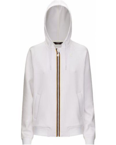 Biała bluza z długimi rękawami K-way