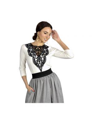 Bluzka elegancka dzianinowa - biała Kasia Miciak Design