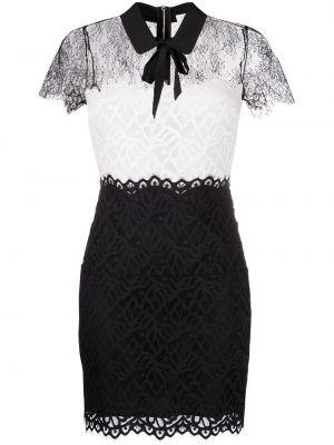 Приталенное с рукавами черное платье мини Sandro Paris
