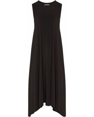 Czarna sukienka asymetryczna bez rękawów Issey Miyake