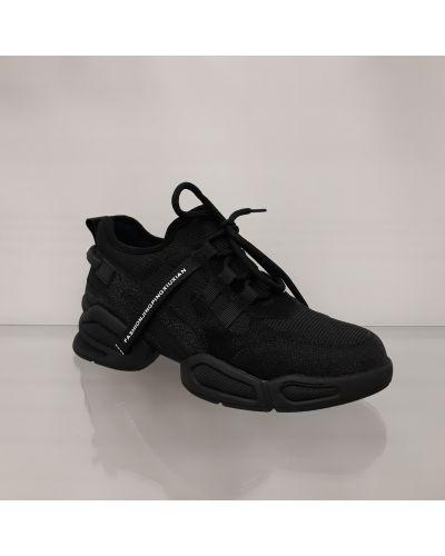 Кроссовки сетчатые - черные Lonza