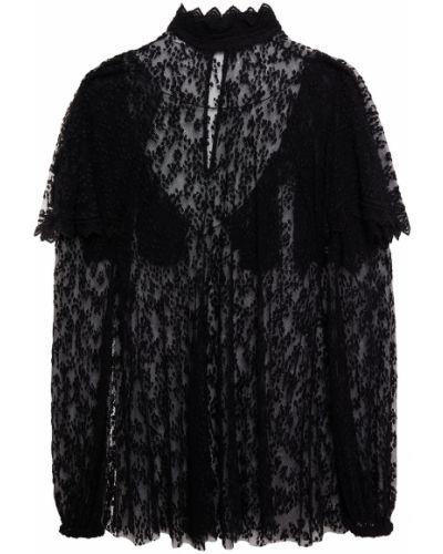 Czarna bluzka bawełniana z haftem Philosophy Di Lorenzo Serafini