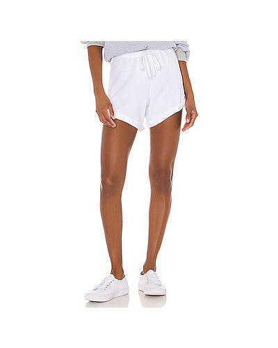 Хлопковые белые шорты с поясом с завязками Lna