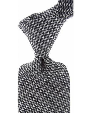 Krawat srebrny - czarny Raffaello
