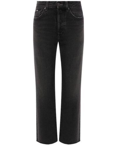 Черные хлопковые джинсы Ag