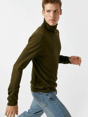 Zielony długi sweter z długimi rękawami Koton