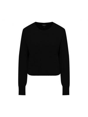Трикотажный пуловер - черный Monrow