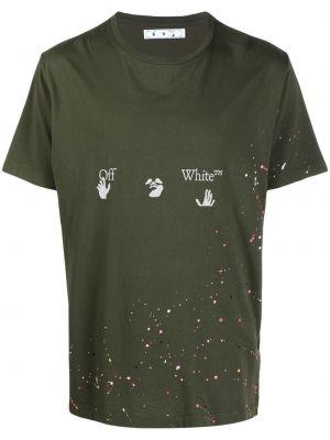 T-shirt z printem - biała Off-white