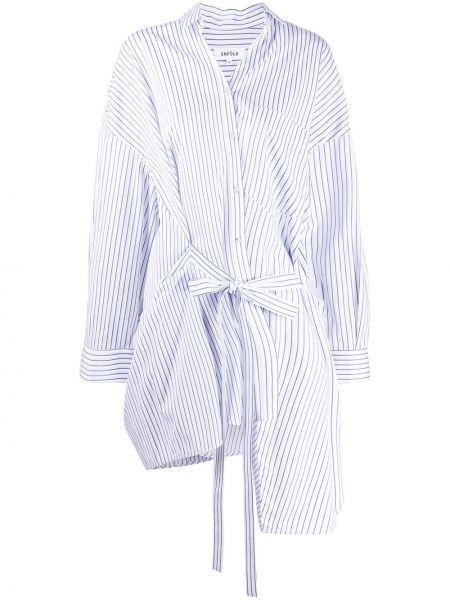 Bawełna asymetryczny top z paskami z kieszeniami Enfold