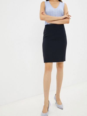 Прямая юбка - синяя Shovsvaro