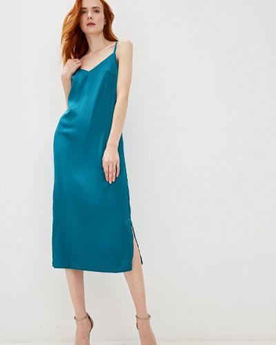 Платье осеннее зеленый Imocean