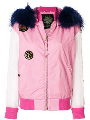 Бомбер с нашивками - розовая Mr & Mrs Italy
