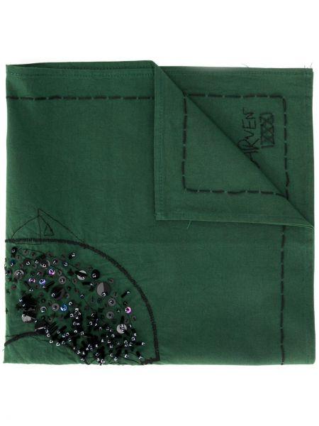 Zielony szalik bawełniany Carven