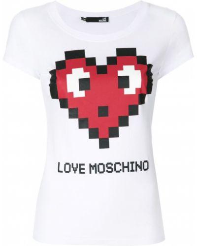 Футболка с логотипом прямая Love Moschino