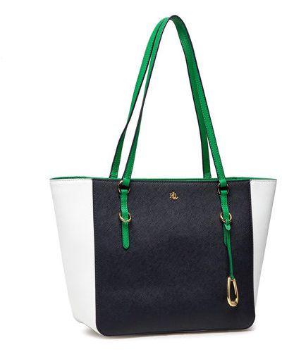 Czarna torba na zakupy Lauren Ralph Lauren
