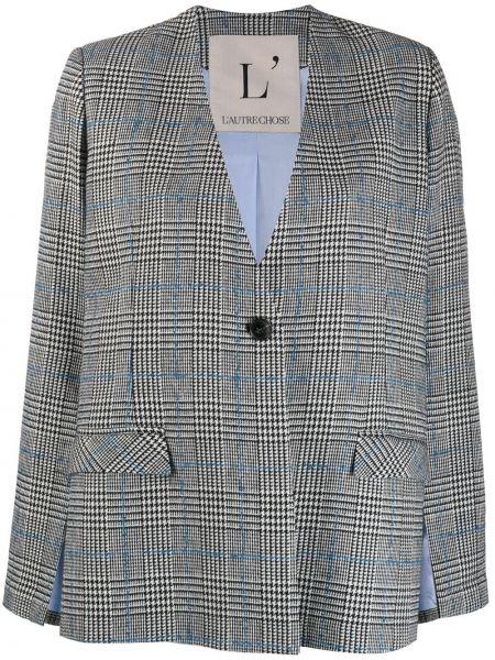 Шерстяной черный пиджак с карманами L'autre Chose