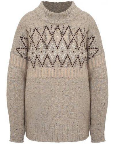 Шерстяной свитер - бежевый By Malene Birger