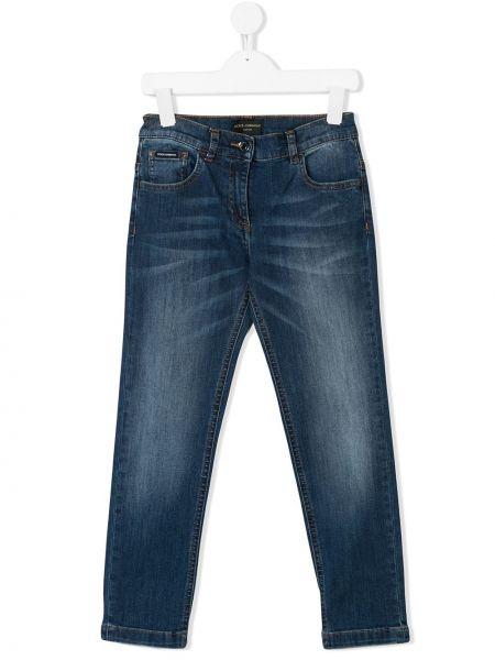 Синие облегающие джинсы-скинни Dolce & Gabbana Kids