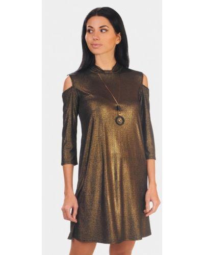 Вечернее платье осеннее золотой Lila