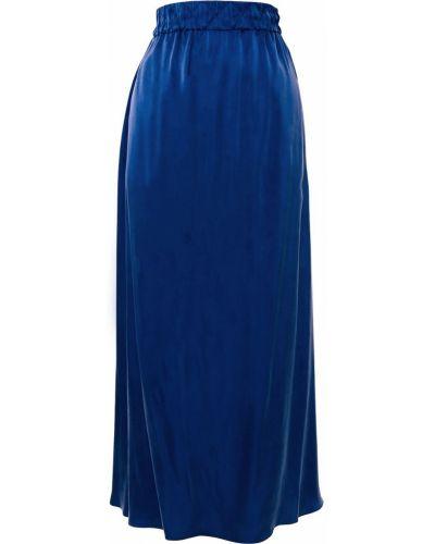 С завышенной талией синяя прямая юбка Ginger & Smart