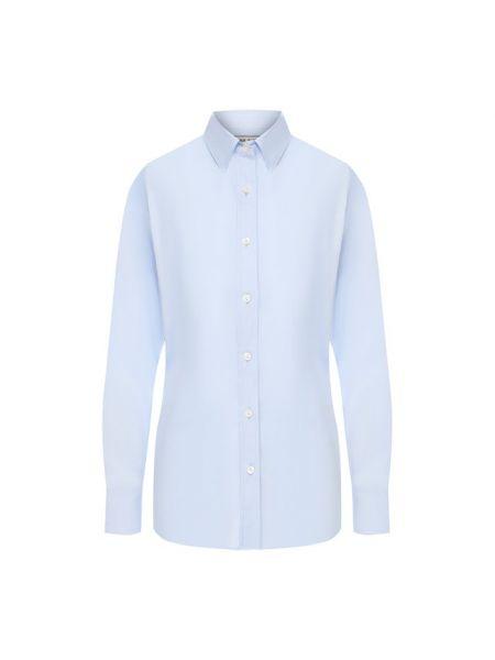 Хлопковая синяя блузка Paul&joe