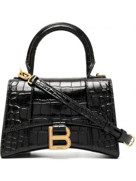 Черная кожаная сумка-тоут на молнии Balenciaga