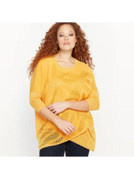 Ажурный пуловер в рубчик трикотажный Castaluna