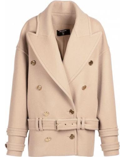 Кашемировое пальто с карманами на кнопках Balmain
