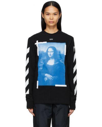 Bawełna z rękawami czarny koszula w paski Off-white