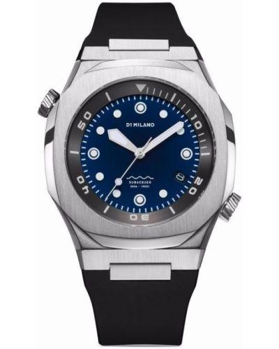 Часы с ремешком - синие D1 Milano