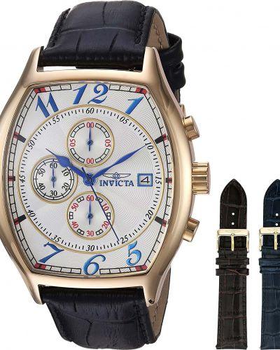 Белые с ремешком кожаные часы на кожаном ремешке Invicta