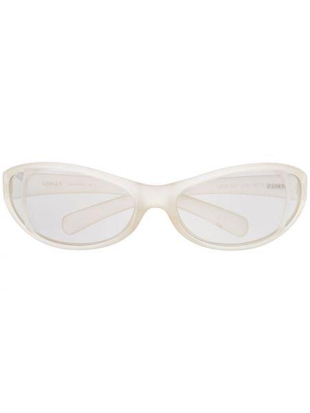 Солнцезащитные очки хаки Versace Pre-owned