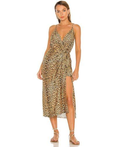 Кожаное платье золотое Vix Swimwear