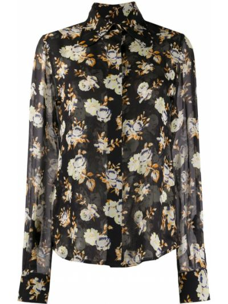 Рубашка с воротником свободного кроя прозрачная на пуговицах Victoria Beckham