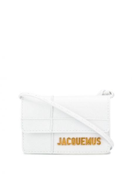 Золотистая кожаная белая сумка через плечо Jacquemus