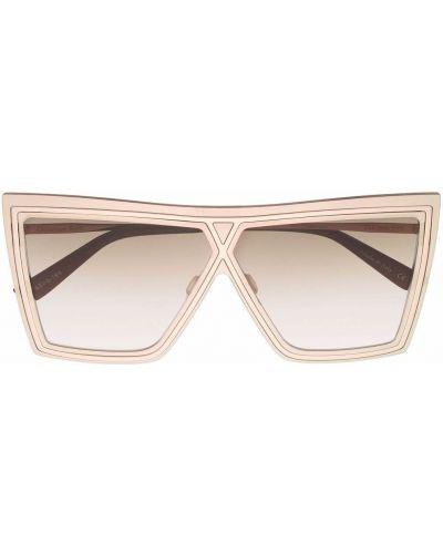 Złote okulary oversize Christian Roth