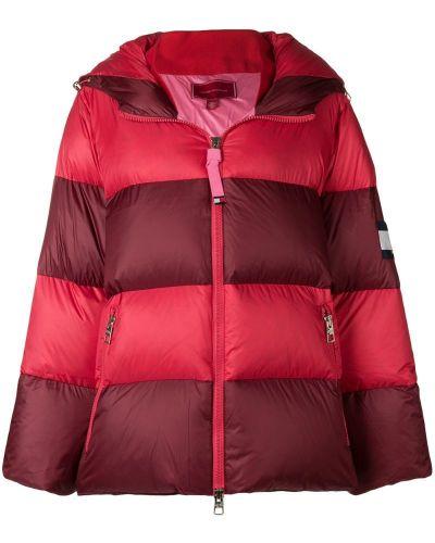 Красное пуховое пальто с капюшоном Hilfiger Collection