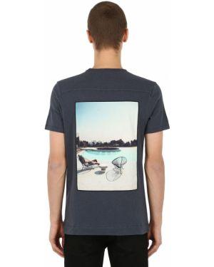 Niebieski t-shirt bawełniany Limitato