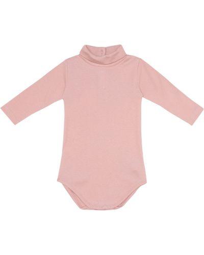 Ватная хлопковая розовая водолазка Bonpoint