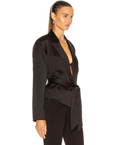Черная блузка из крепа с карманами Marissa Webb