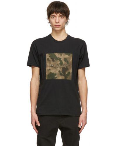 Bawełna z rękawami czarny koszula Rag & Bone