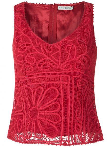 Блузка без рукавов кружевная шелковая Martha Medeiros