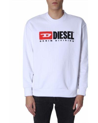 Prążkowana bluza bawełniana oversize Diesel
